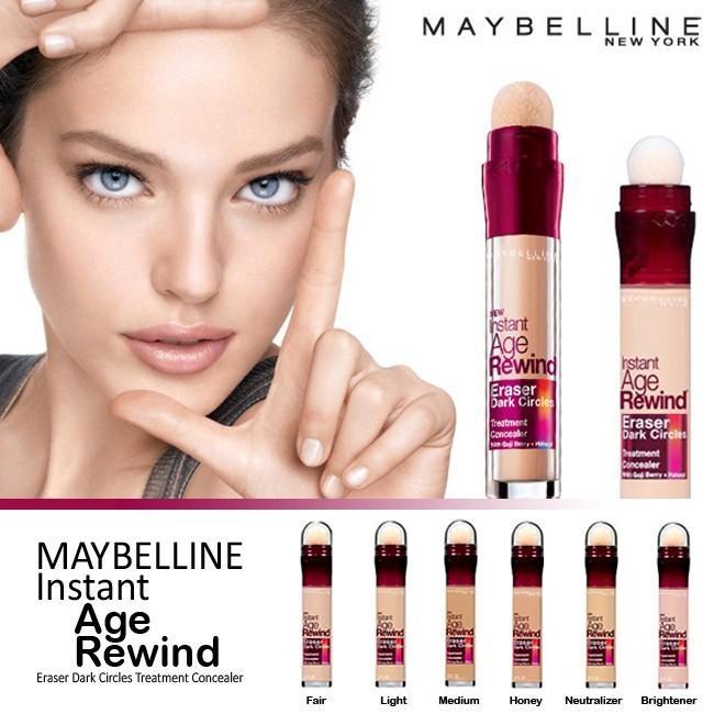 Maybelline Instant Age Rewind Eraser Concealer & Fit Me Concealer Instant honey 140