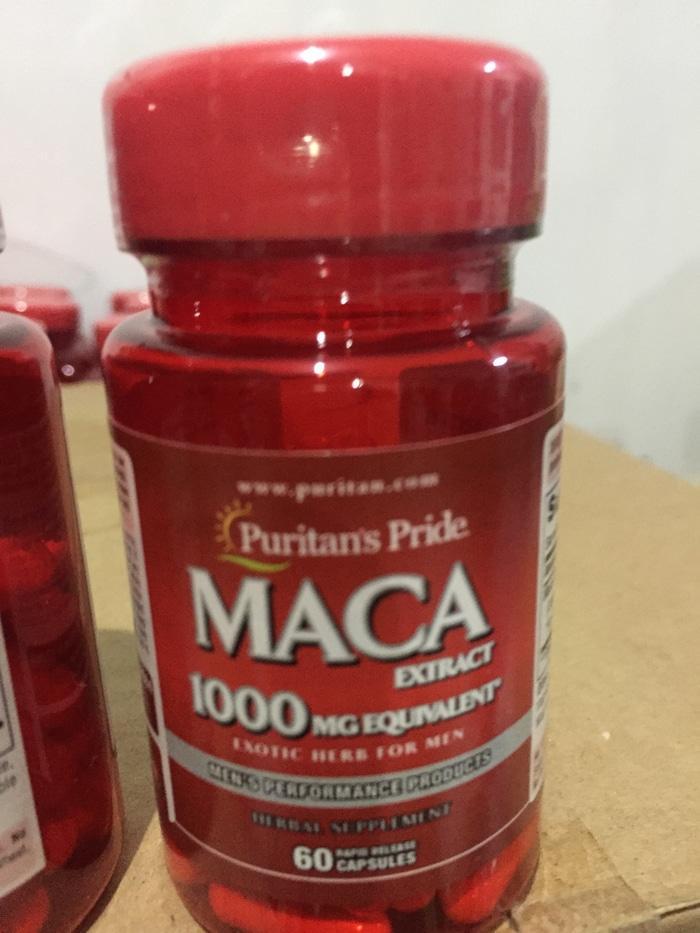 PURITAN MACA 1000 Mg Exotic Herb For Men 1000 Mg 60 Cap