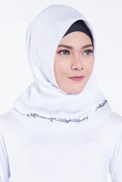 Jilbab Segiempat Elzatta Kaila Lazatta Putih