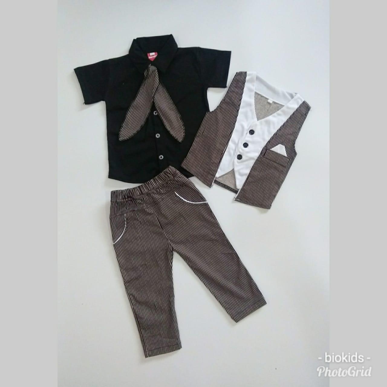 setelan anak cowok tuxedo rompi 4 in 1 Elmer terbaru baju anak - baju pesta anak
