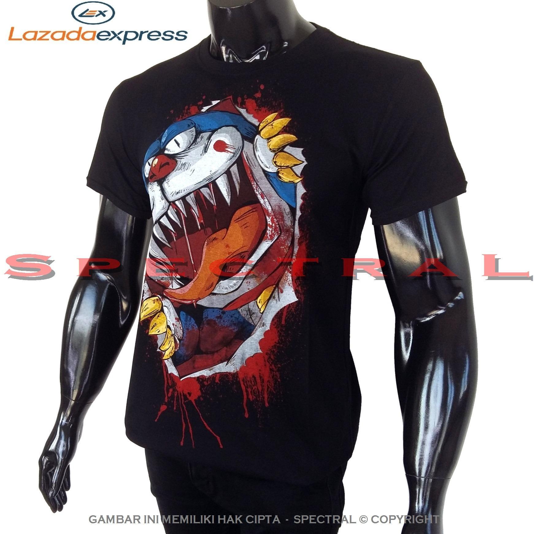 Spectral – DORAEMON ZOMBIE 100% Soft Cotton Combed 30s Kaos Distro Fashion T-Shirt Atasan Baju Pakaian Polos Shirt Pria Wanita Cewe Cowo  Lengan Murah Bagus Keren Jaman Kekinian Jakarta Bandung Tumblr Hitam Gambar Animasi Kartun Superhero Lucu Horror