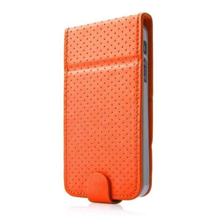 Casing / Cover Case Upper Polka iPhone 5/5S/5SE Original - Orange Original Murah