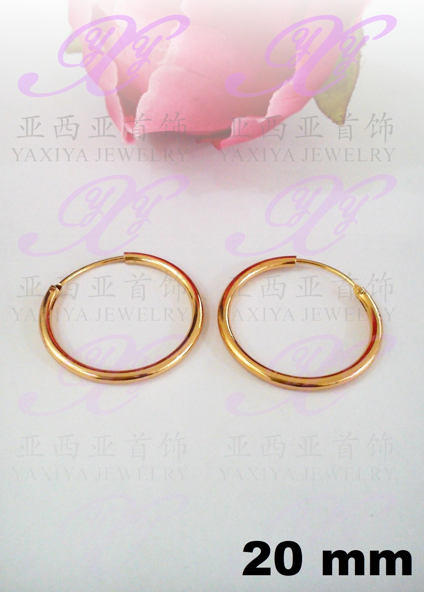 Yaxiya anting gipsy perhiasan imitasi lapis emas aksesoris gold18k 479