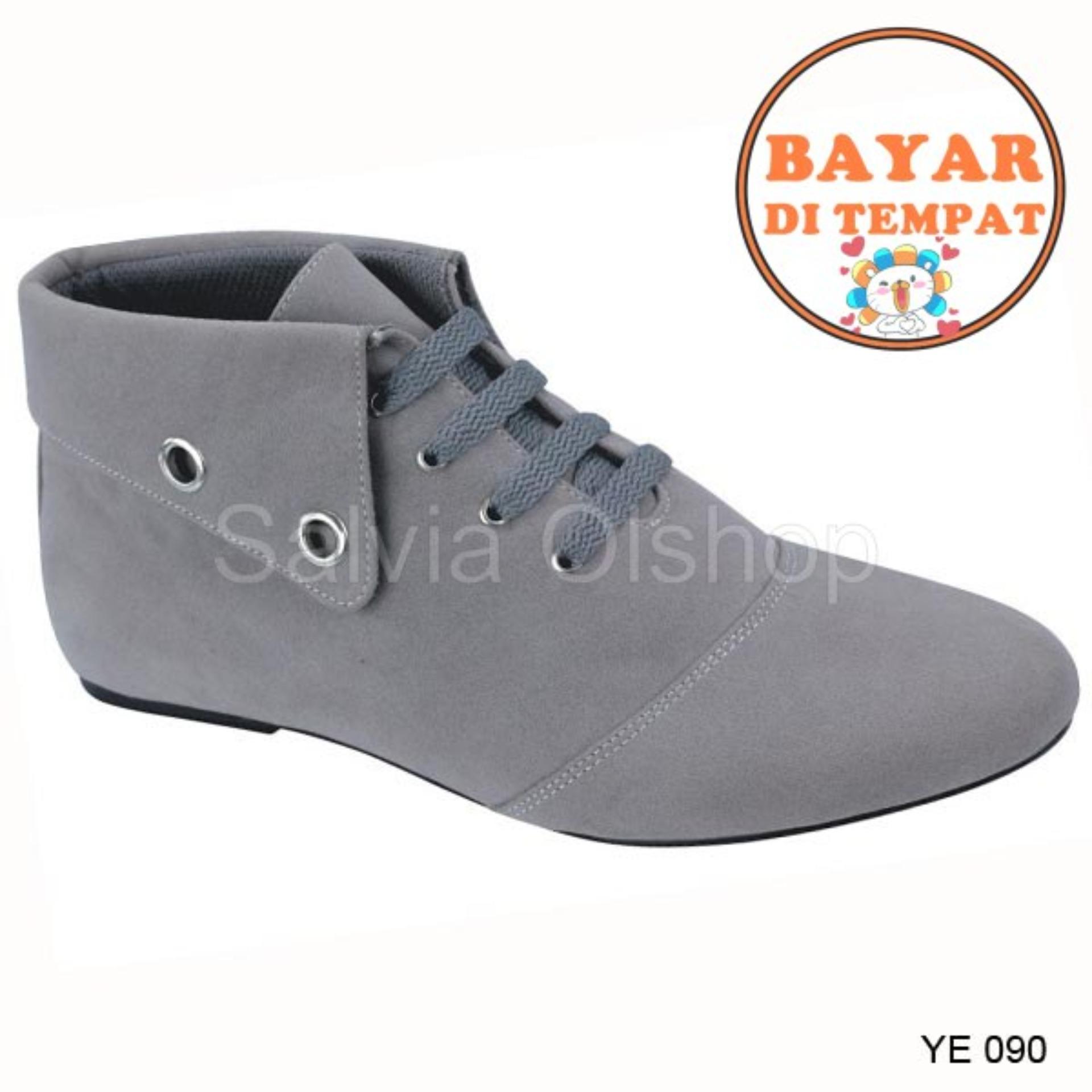 Catenzo Sepatu Boots Wanita Keren Dan Trendy YE 090 Abu