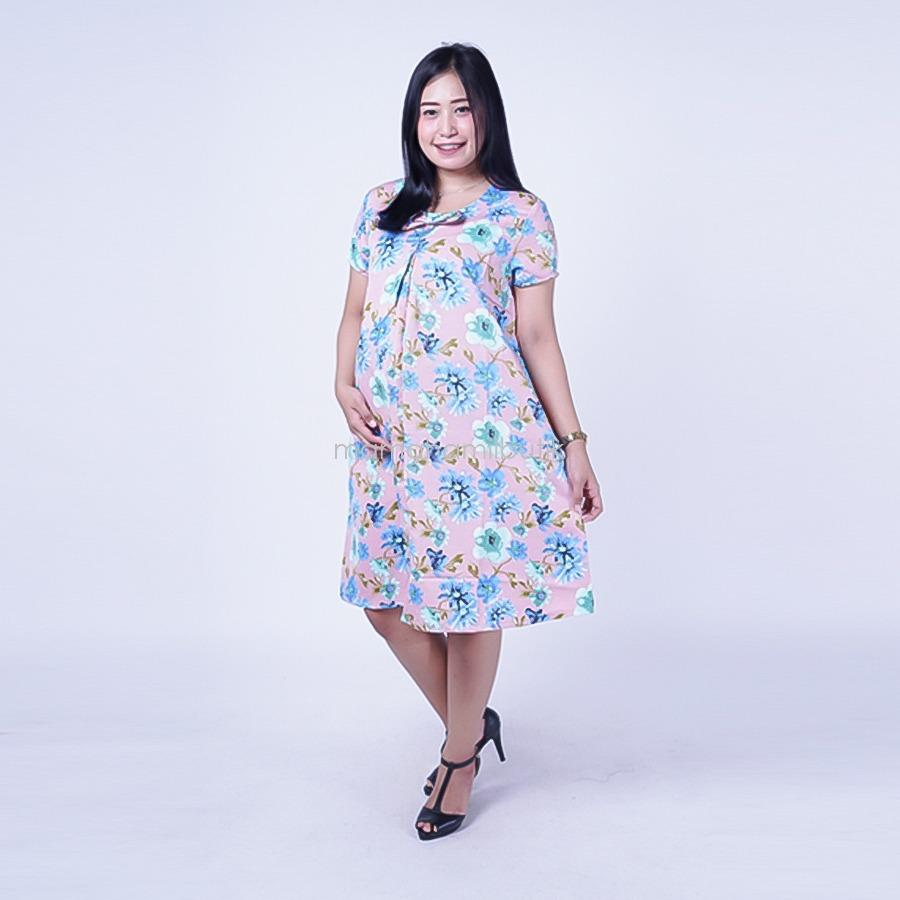 FREE CD Hamil Mama Hamil Baju Hamil Dress Ceplok Bunga Kutung Modis Dress Hamil Batik / Dress Hamil Modis / Dress Hamil Korea / Dress Hamil Online / Dress Hamil cantik dan Modis / Dress Hamil Menyusui / Dress Ibu Hamil