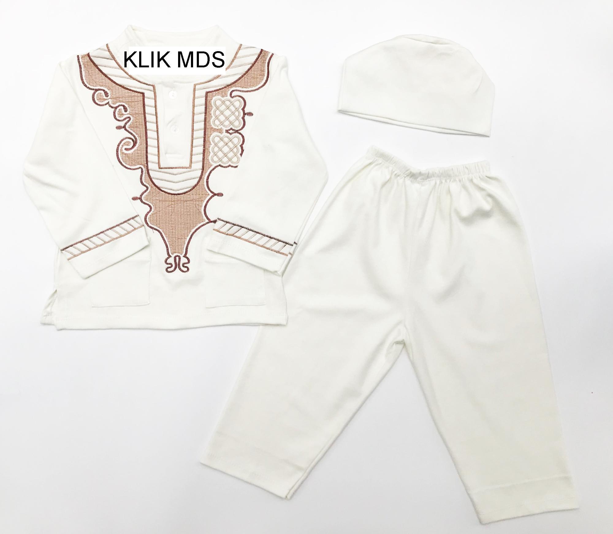 Klik Mds Baju Setelan Baju Koko Anak Lelaki Edisi Lebaran 3W dan Celana Free Topi Peci
