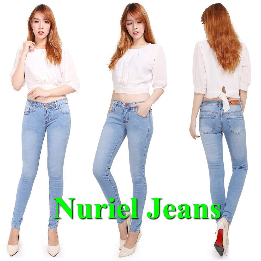 NJ Nuriel Jeans – Celana Jeans Wanita– Denim Premium Quality – L & Y Aqua