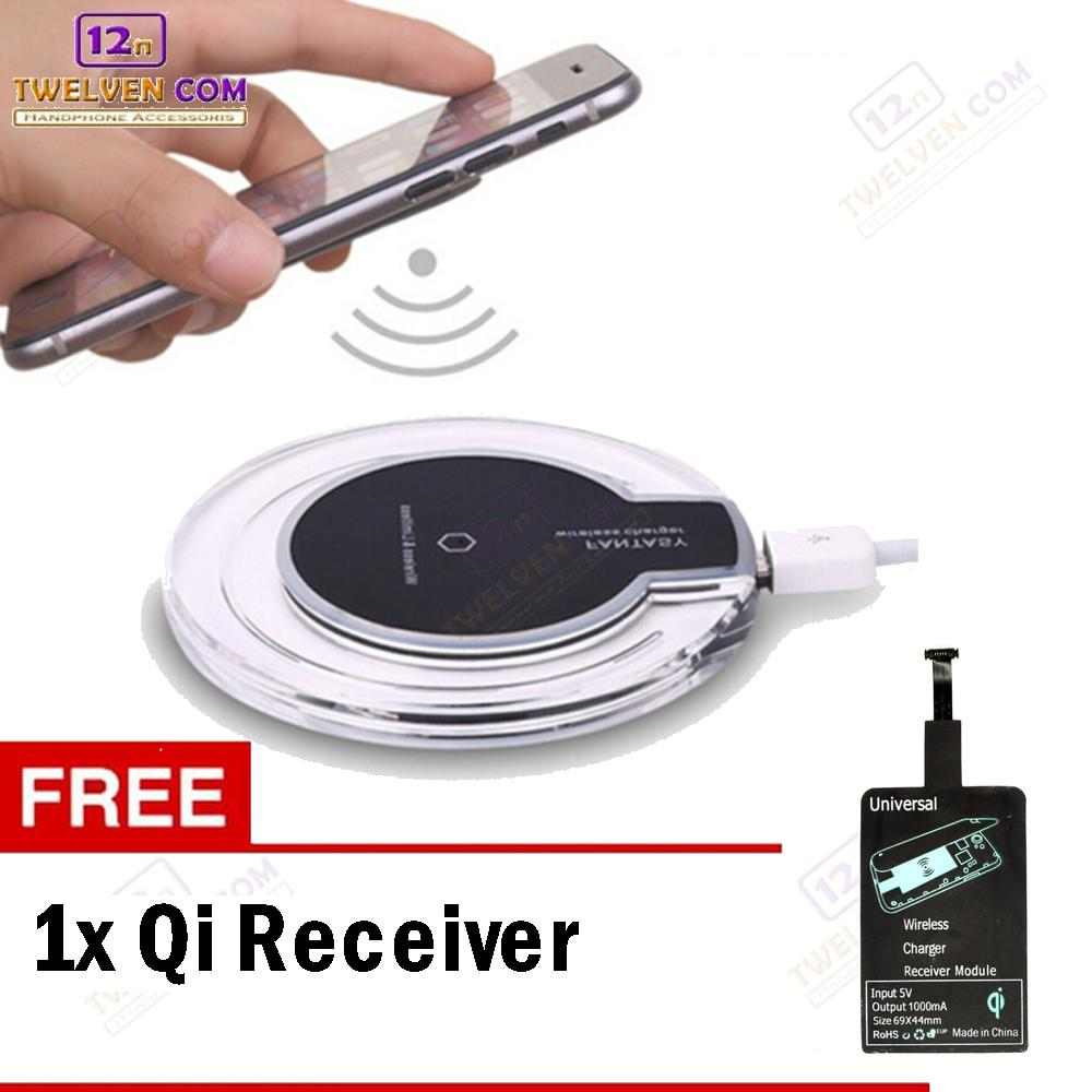 Jual Charger Wireless Terbaik Universal Qi Receiver Reveres Port For Smartphone Fantasy Android Ios Sw3001 Free Micro Usb
