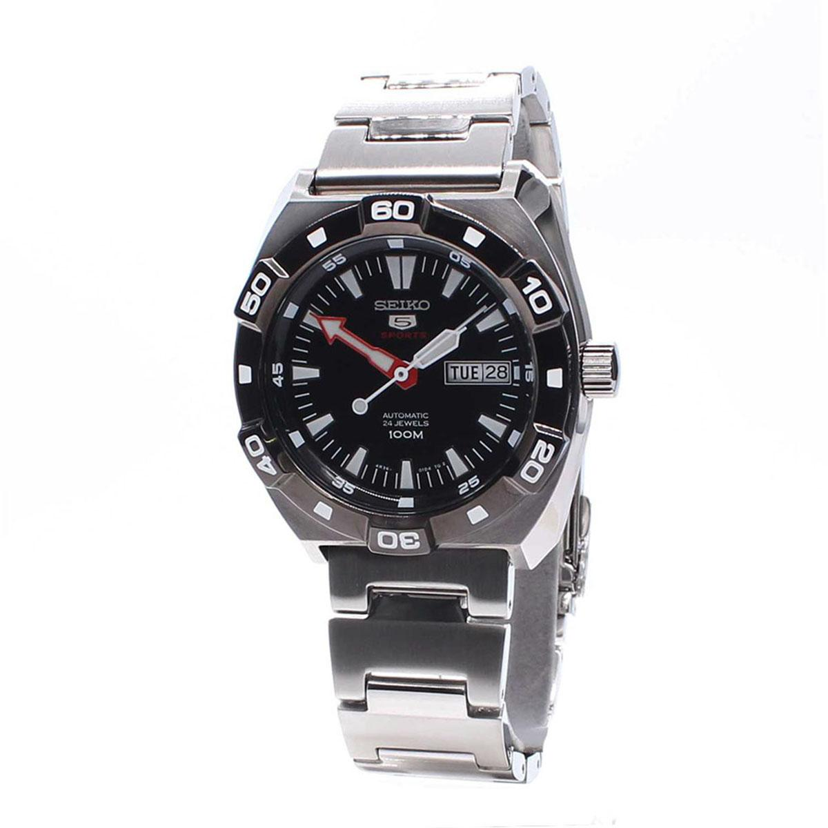 Seiko Seiko 5 Sports Silver Stainless-Steel Case Stainless-Steel Bracelet Mens JAPAN NWT + Warranty SNZG13J1IDR1883300. Rp 1.885.600