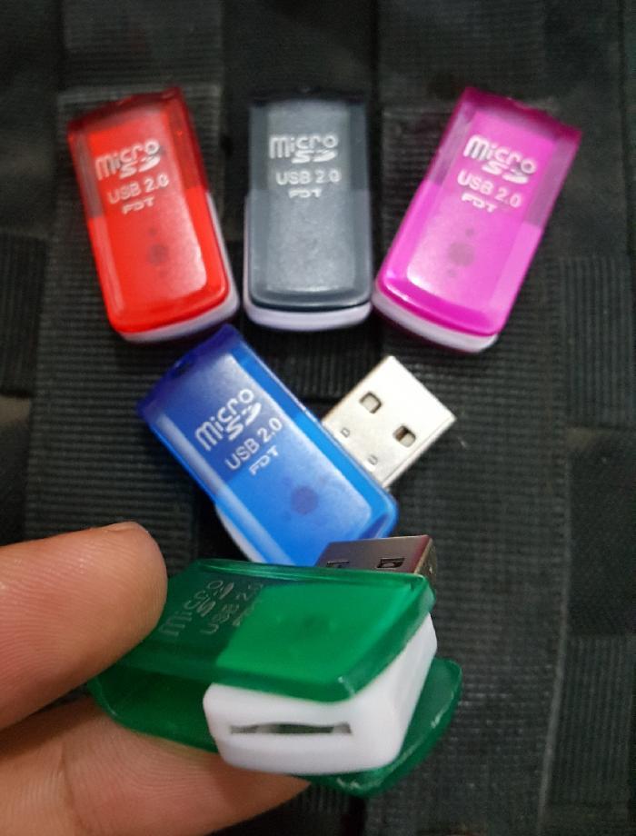 CARD READER 1 SLOT MICRO SD / CARD READER USB FLASH SINGLE SLOT MURAH