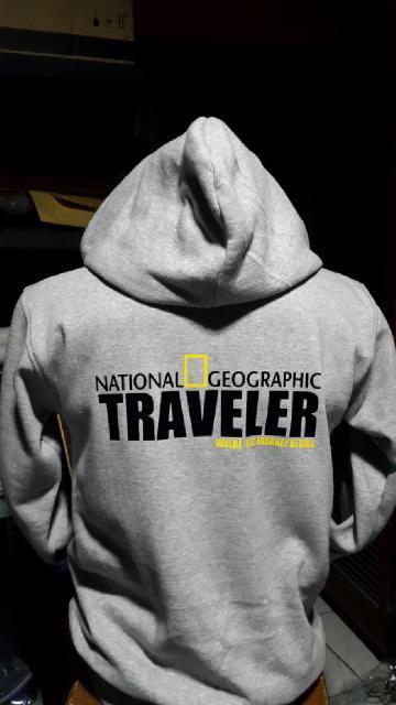 HOT SPESIAL!!! Jaket Hoodie National Geographic Traveler (Grey) - wdLZih