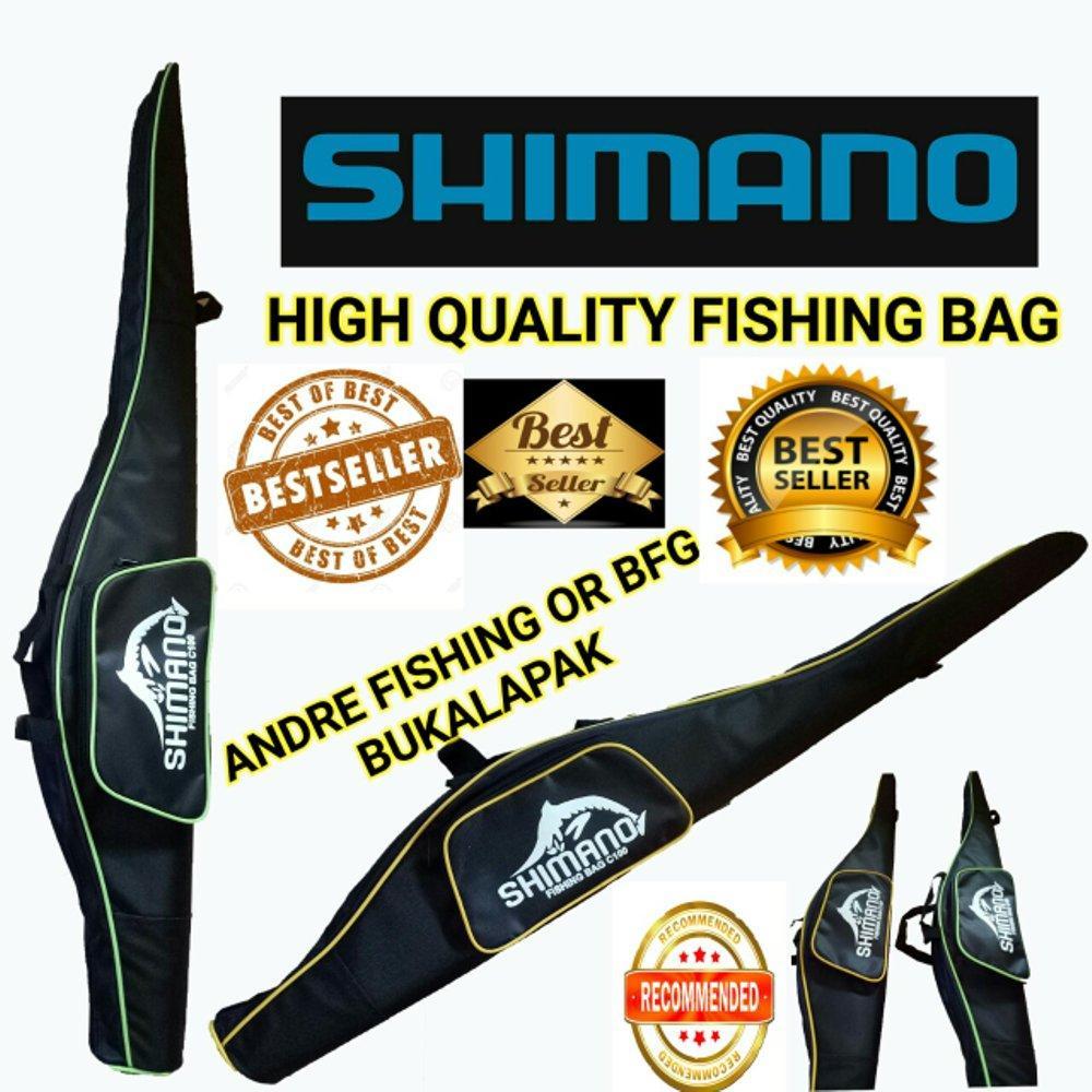 Tas Pancing Shimano 100cm Bahan D600 - Fishing Bag Murah Alat Pancing Wadah Joran Grosir di lapak Andree Fishing or BFG andree_alivio