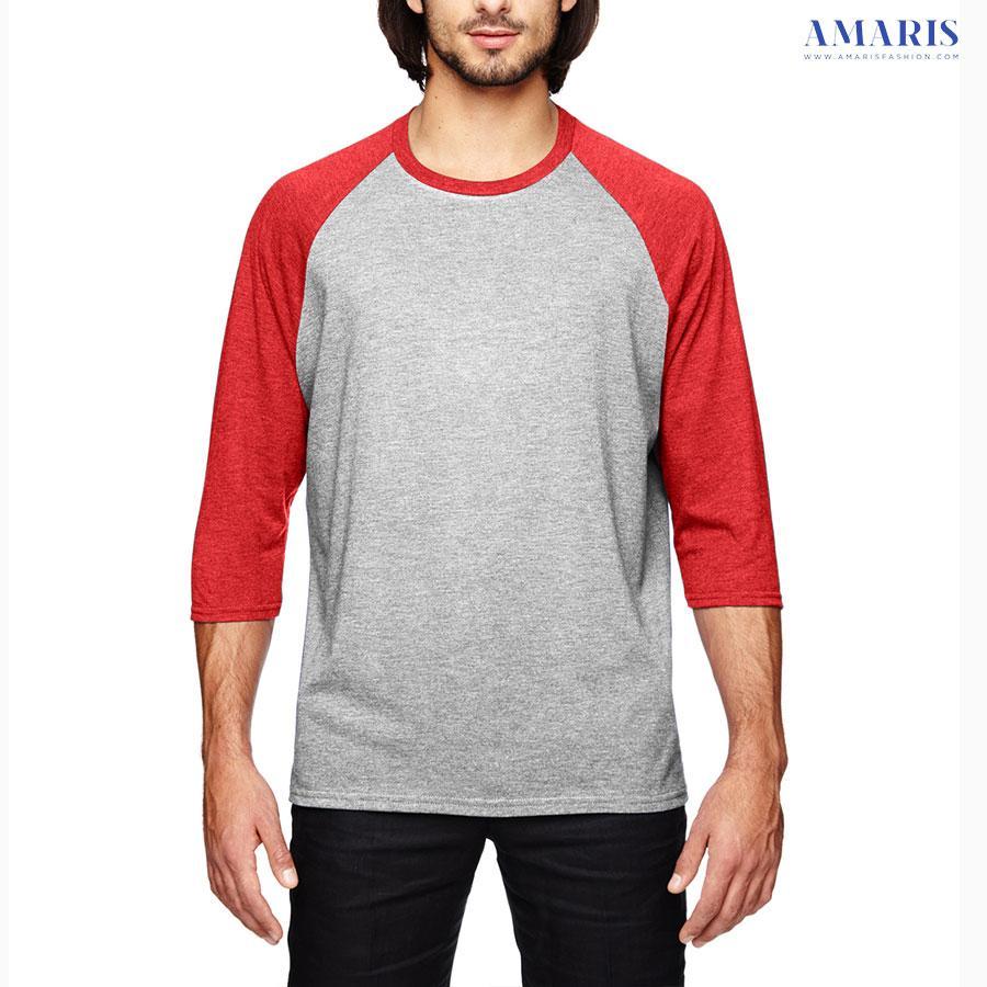 Amaris Fashion - Kaos Raglan Misty Polos Lengan Merah - Kaos Atasan Murah