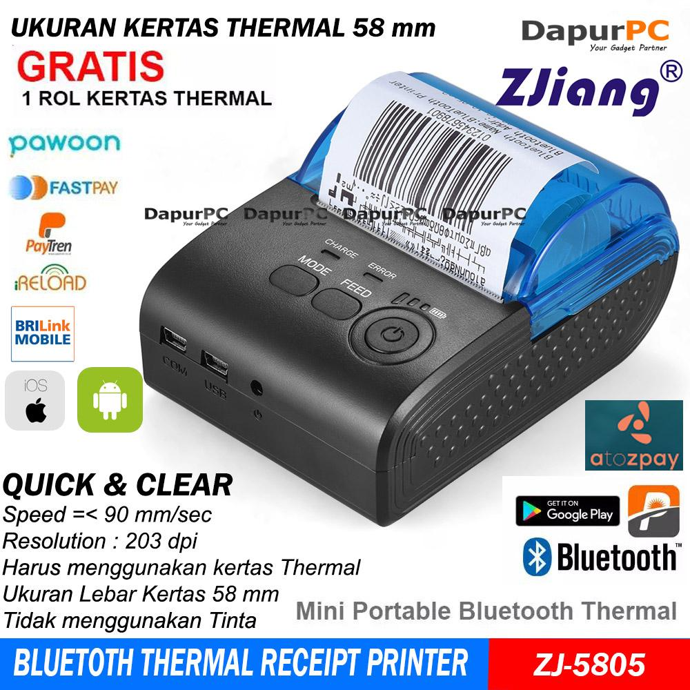 Mini Portable Bluetooth Thermal Receipt Printer Zjiang ZJ-5805