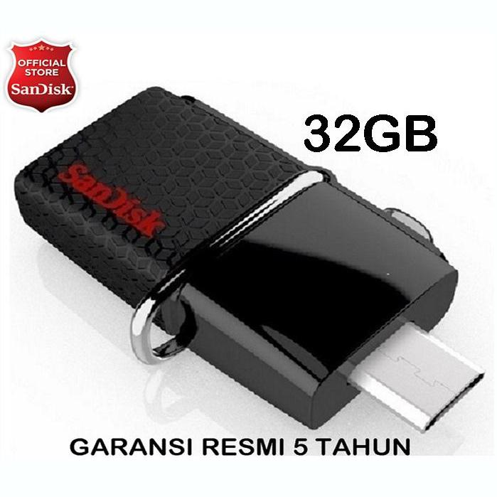 Sandisk 32gb - Otg Ultra Dual Drive Usb 3.0 - Hitam By Jet Store.
