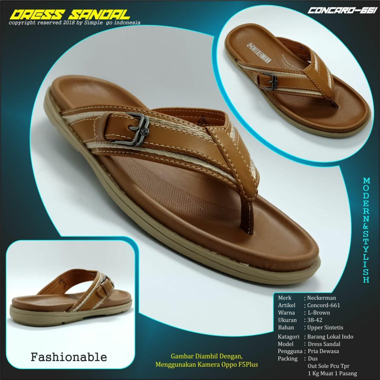 Neckermann Sandal Pria Eden 044 Ivory Shopee Indonesia Source · Neckerman sandal casual pria concord 661 brown 38 43