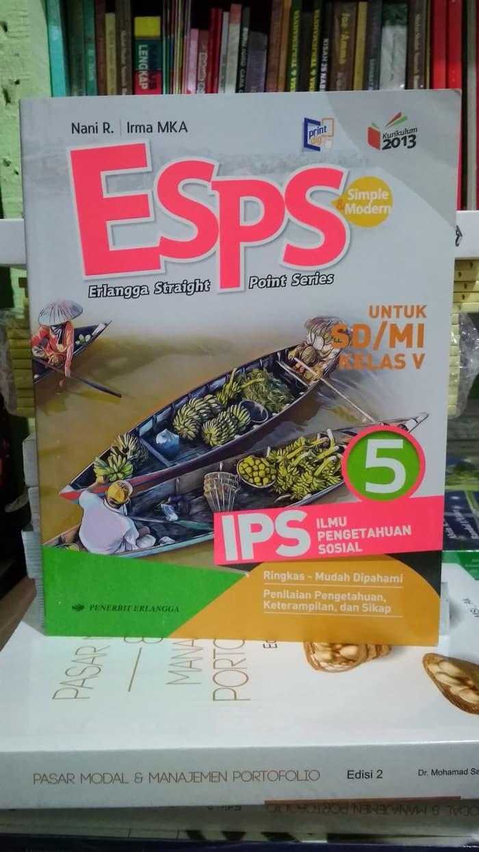 Best Seller!! Best Seller Esps Ips 5 Untuk SdU002Fmi Kelas V ( K13N ) Erlangga - ready stock