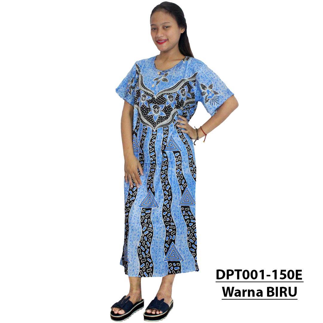 Daster Batik, Daster Lengan Pendek, Baju Tidur, Piyama, Kancing, Daster Bumil, Daster Busui (DPT001-150) Batik Alhadi