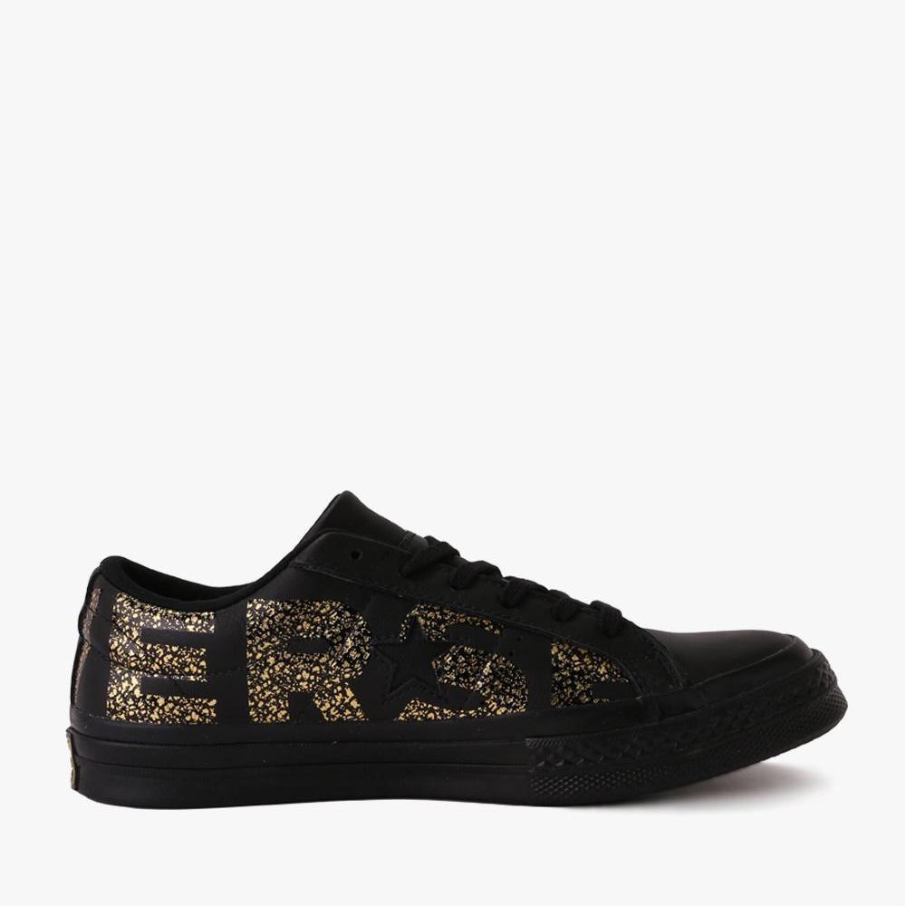 Converse One Star Ox Women's Sneakers Shoes - Unisex Size - Hitam