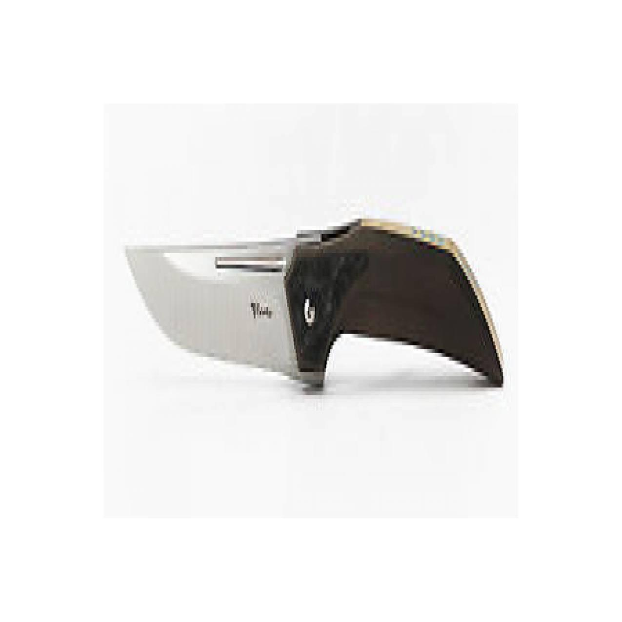 Pisau Reate Knives The Future Pocket Knife Bronze Titanium & Carbon Fi