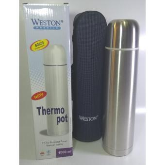 Pencari Harga WESTON Thermos Air Panas/ Termos Air Dingin 1000mmL, Stainless Steel - Silver ORIGINAL terbaik murah - Hanya Rp100.358