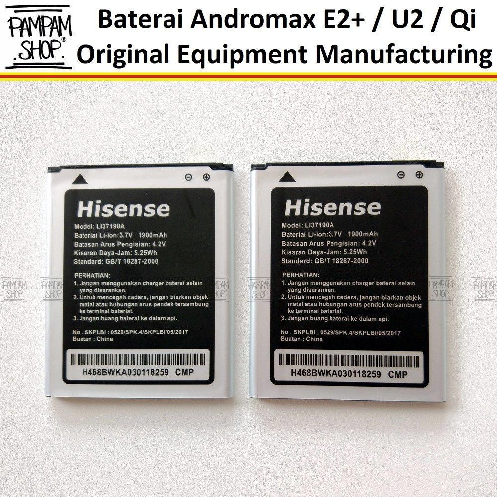 Baterai Handphone Smartfren Andromax E2 Plus E2+ Qi U2 Original OEM 100% Batre Batrai Battery