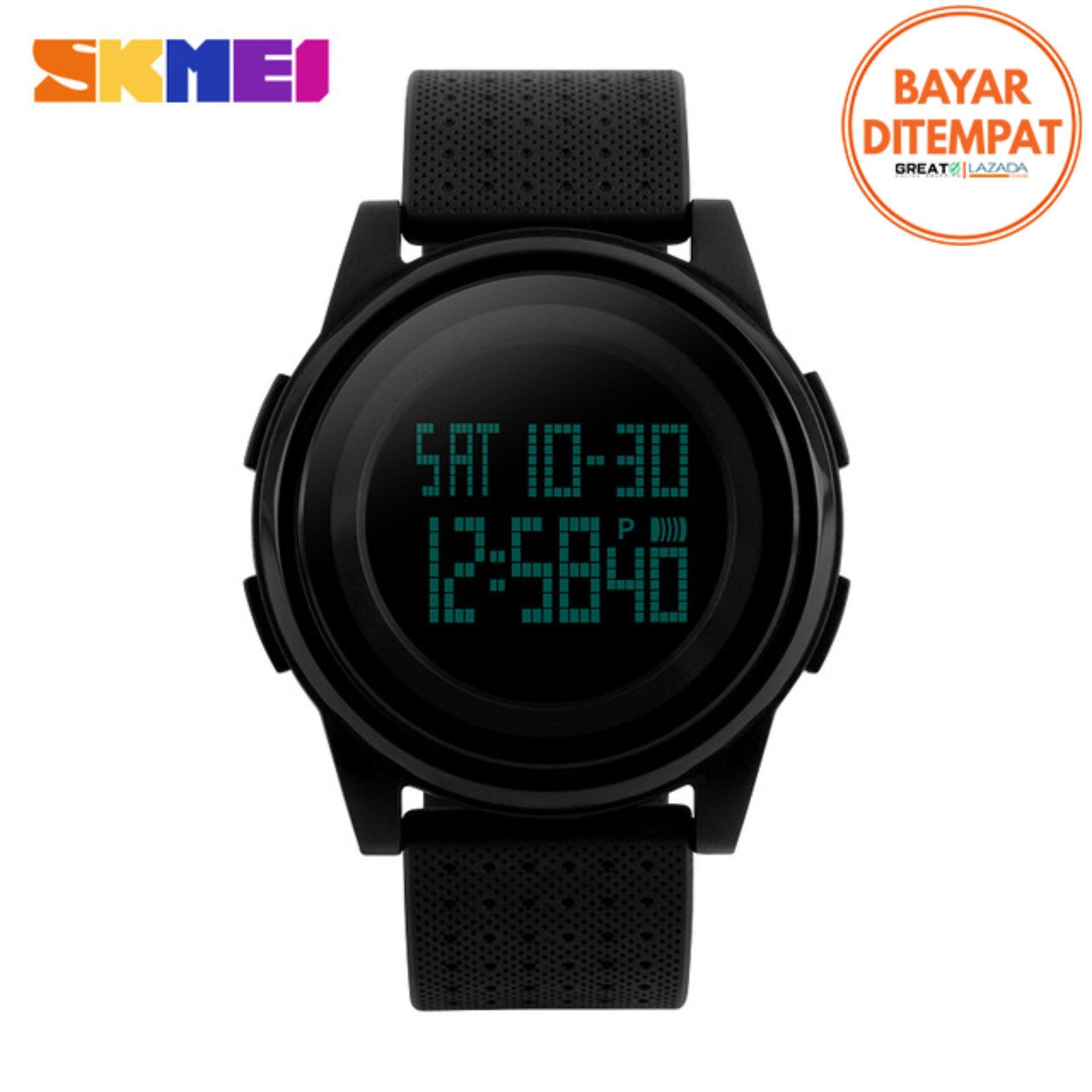 SKMEI Digital Sport Watch Water Resistant 50m DG1206 Jam Tangan Sport Day Date Night Light Stopwatch