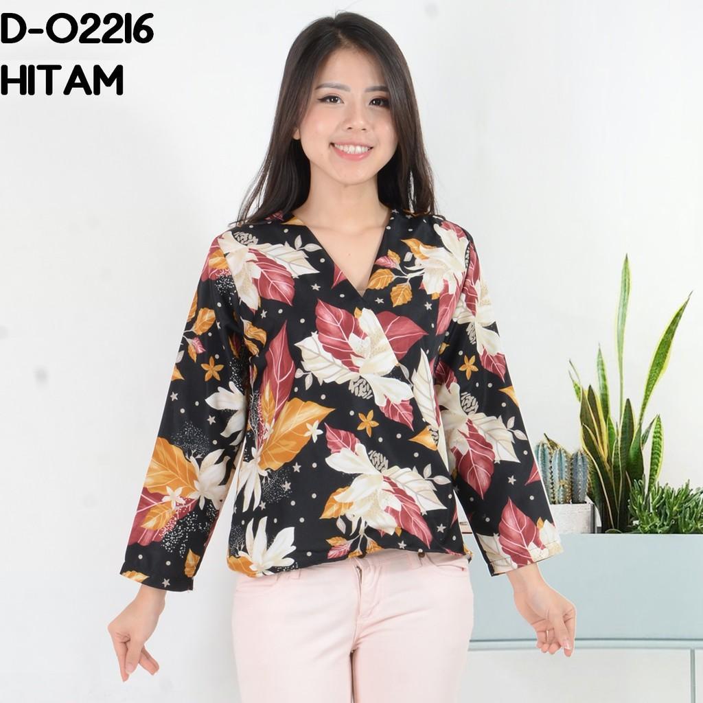 Rimas Fashion Baju Blouse Atasan Kimono Tangan Panjang Murah Wanita  Kekinian Maxmara D-02216 8d3d555179