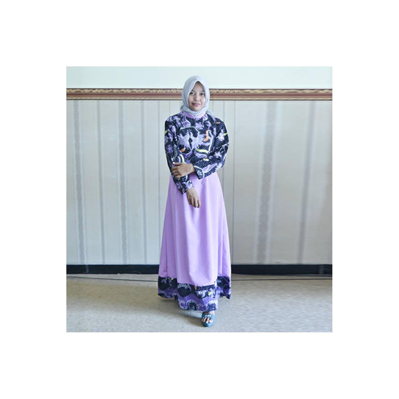 Gamis batik muslim kombinasi exclusive 191