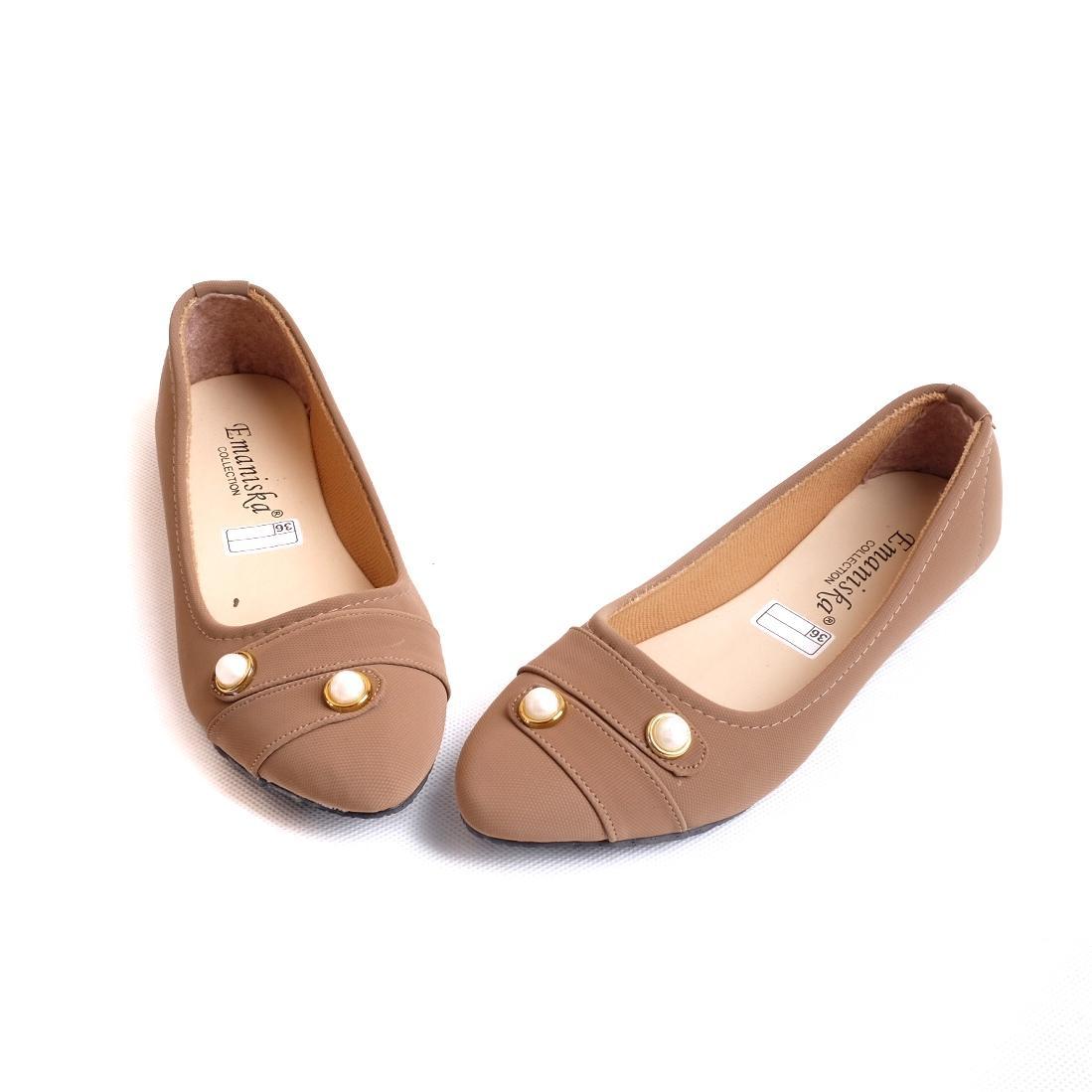 Rafisha Sepatu Brukat Cantik Hitam Daftar Harga Terbaru dan Source · MBIL Flat Shoes Wanita Mutiara 02