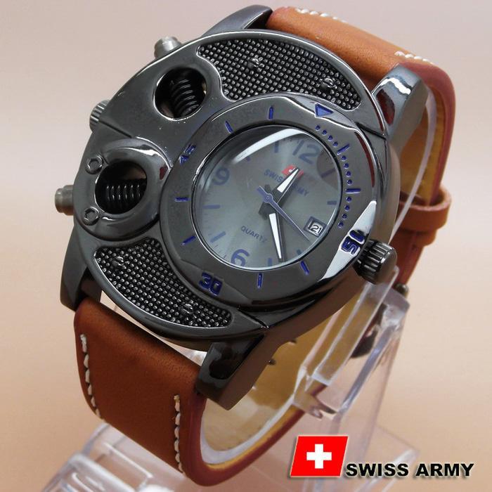HARGA DISKON!!! Swiss Army Ba625 Brown Leather List Blue