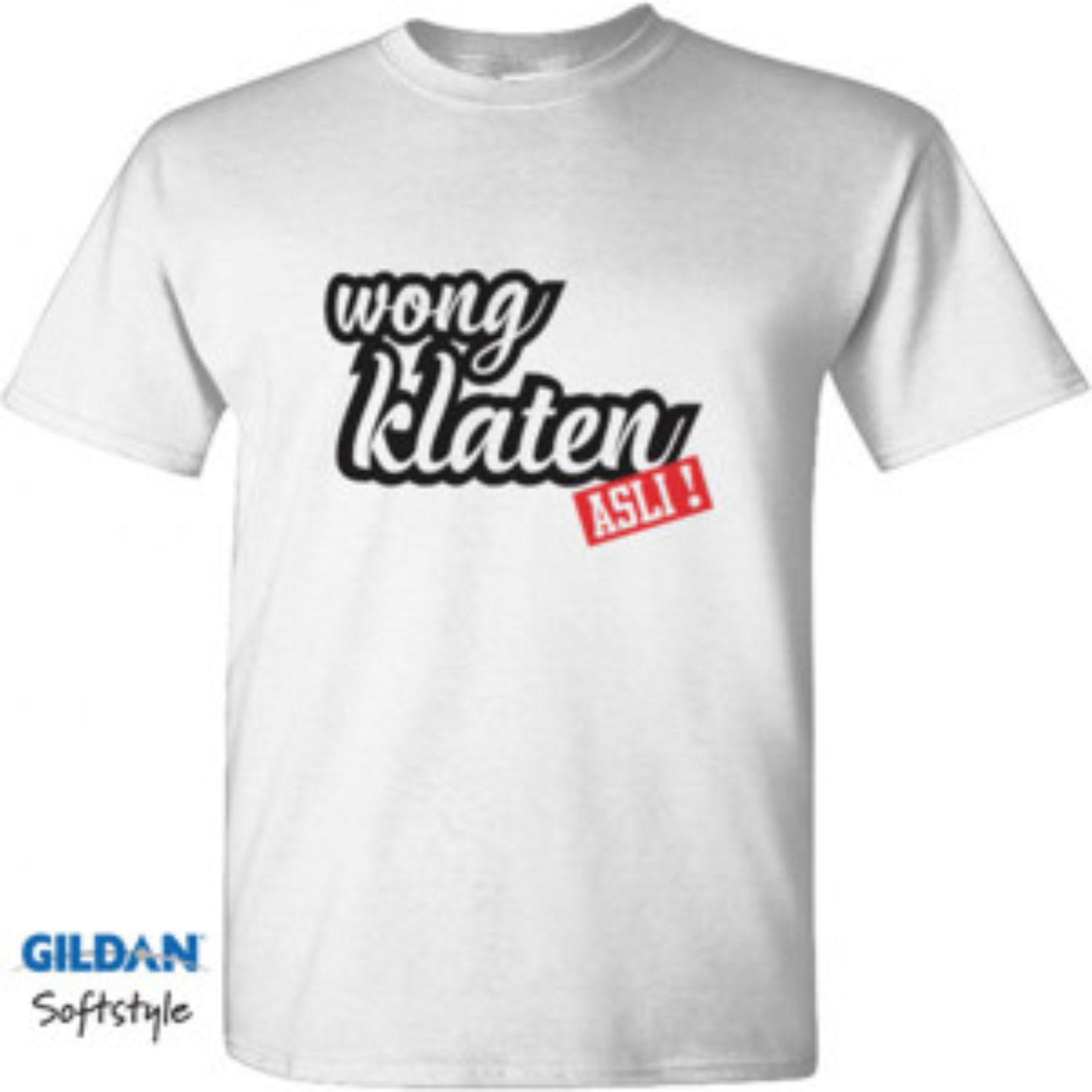 Mey Mey Clothing Kaos / T-Shirt Lengan Pendek Wong Klaten Asli