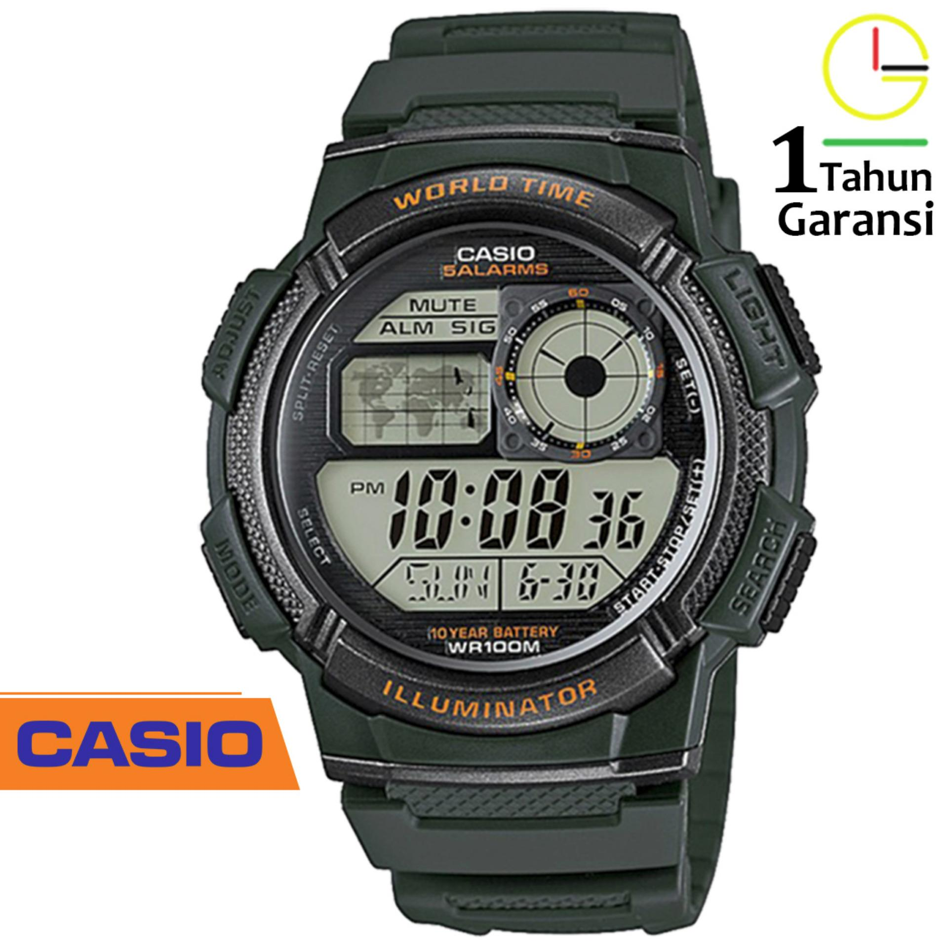 CASIO Illuminator AE-1000W Jam Tangan Pria sport Tali Karet Digital Movement