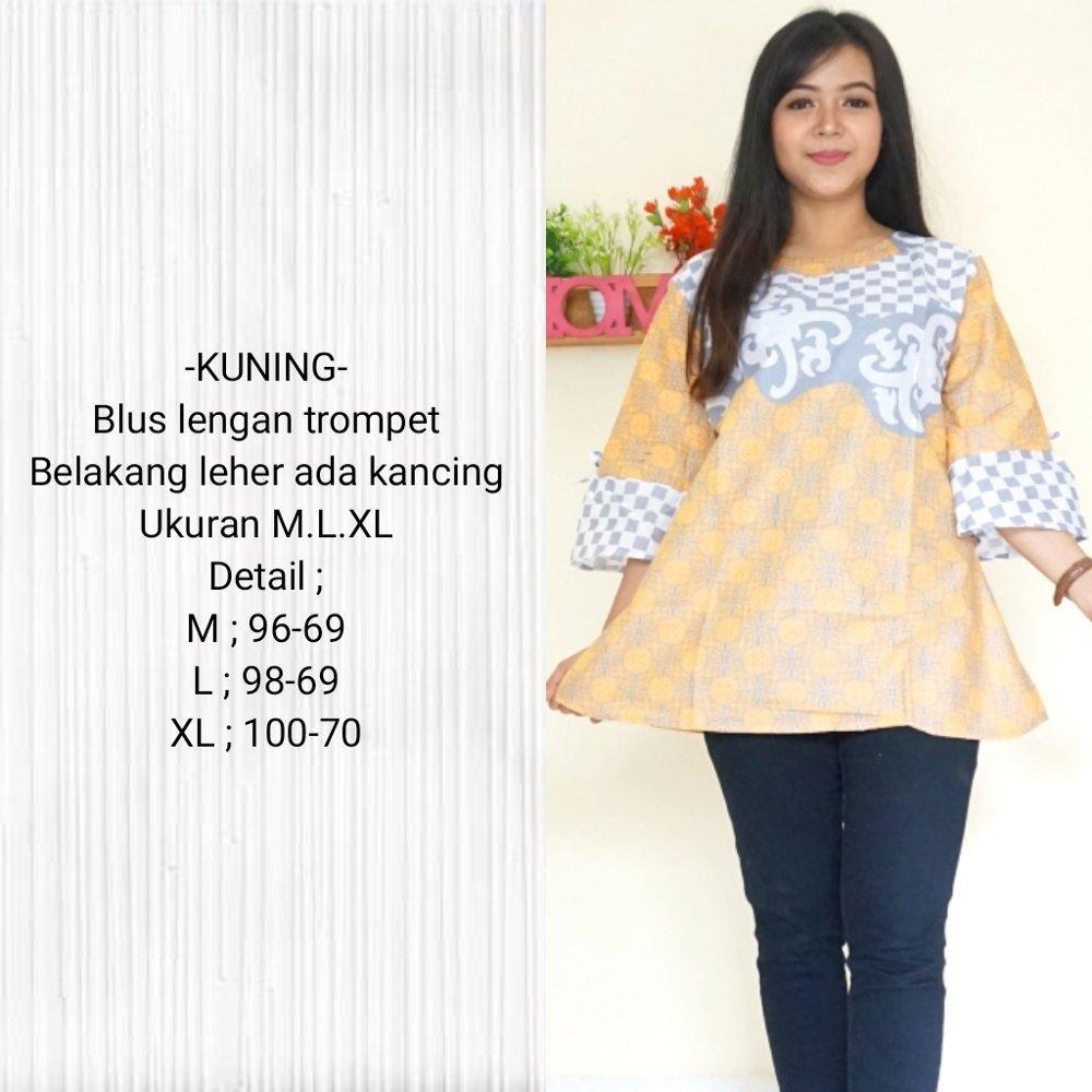 Buy Sell Cheapest Blus Batik Katun Best Quality Product Deals Couple Sarimbit Asmara Gold Blouse Bahan