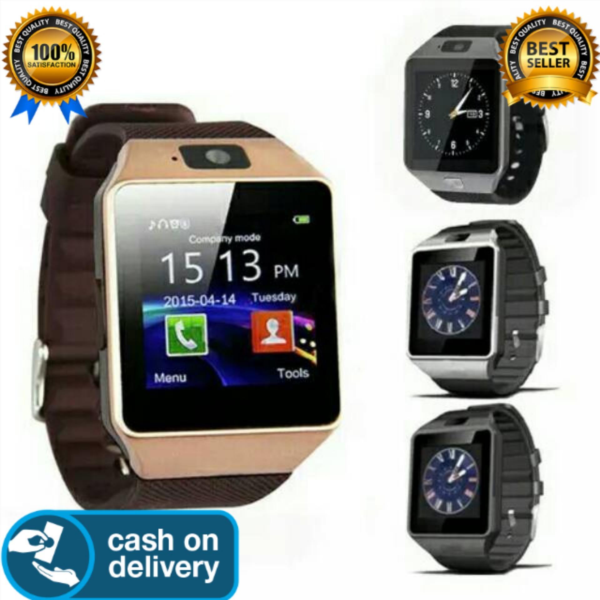 Hybrid Tech - U Watch U9 Smartwatch DZ09 Sim Card Micro SD Android - Strap Karet