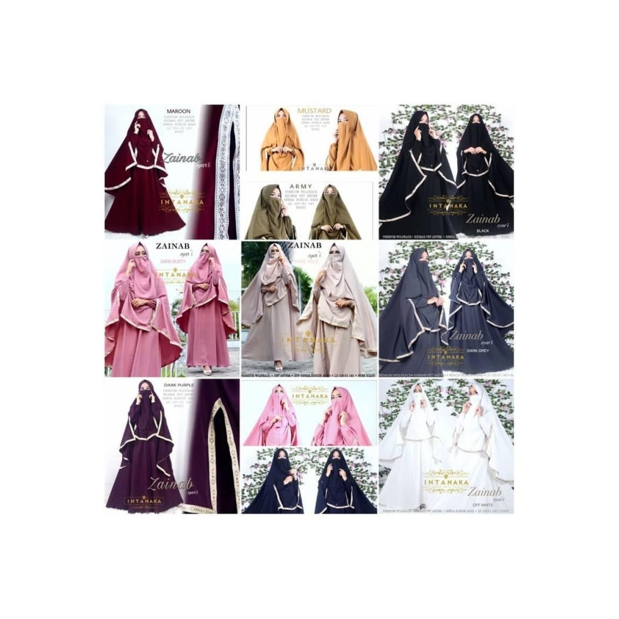 Baju Gamis Syari Renda Arab Cadar