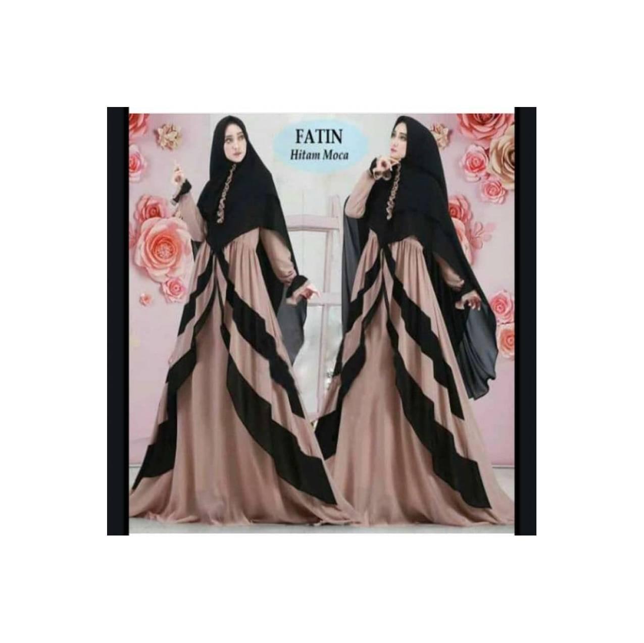 Gamis Fatin Syari / Pakaian Muslim / Baju Gamis - Hitam