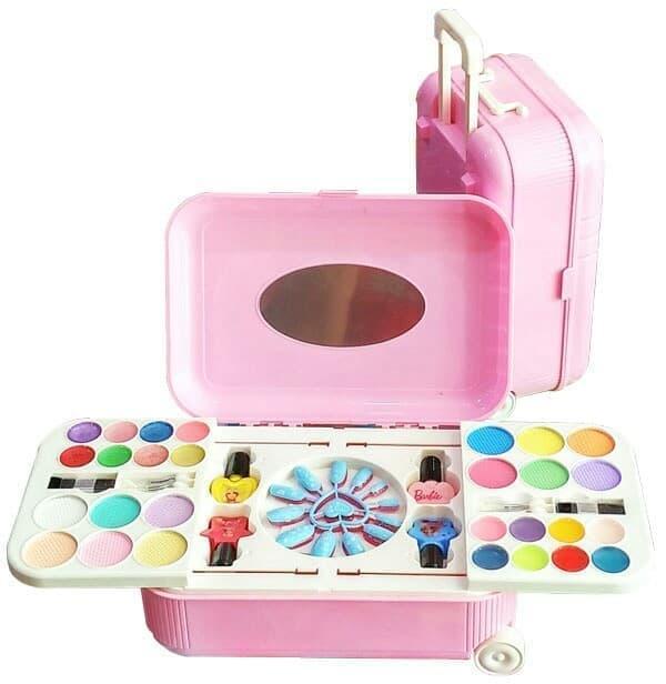 Barbie Make Up Fashion n Nail Art Set Mainan Anak Perempuan Meja Koper