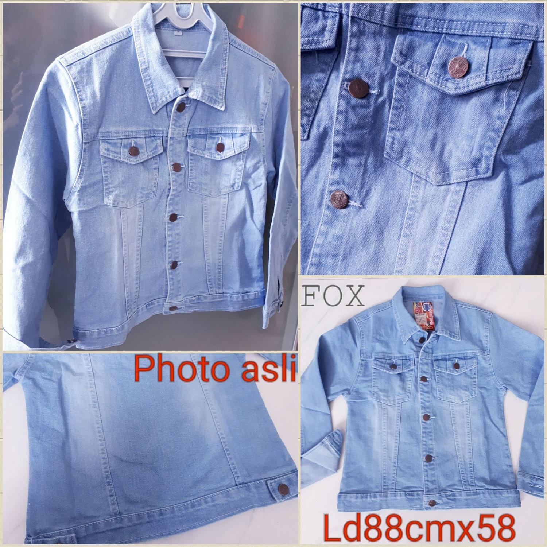 Fox- Jacket Jeans / PHOTO ASLI/ Jaket Denim BIru/ Jaket Jins/ Outer Denim/ Jeans LEVIS LEPIS