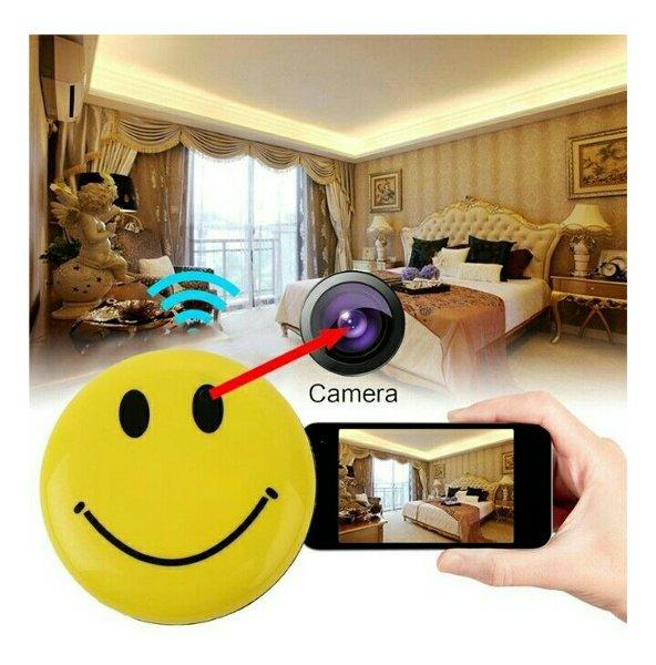 Smile Kamera Pin Spy Cam HD DVR + bisa musik mp3 Player , cctv portable camera tersembunyi pengintai bentuk model PIN Yellow warna kuning ,hidden video recording rekaman bening. GRESIK
