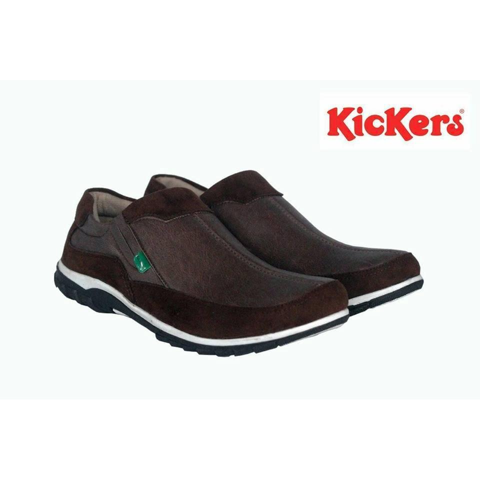 Sepatu Casual Slip On Pria Trendy Kickers Original Kulit Suede Best Seller (Sepat Santai, Sepatu Jalan, Sepatu Sekolah, Sepatu Formal, Sneakers, Slip On, Sepatu Slop, Sepatu Kerja)