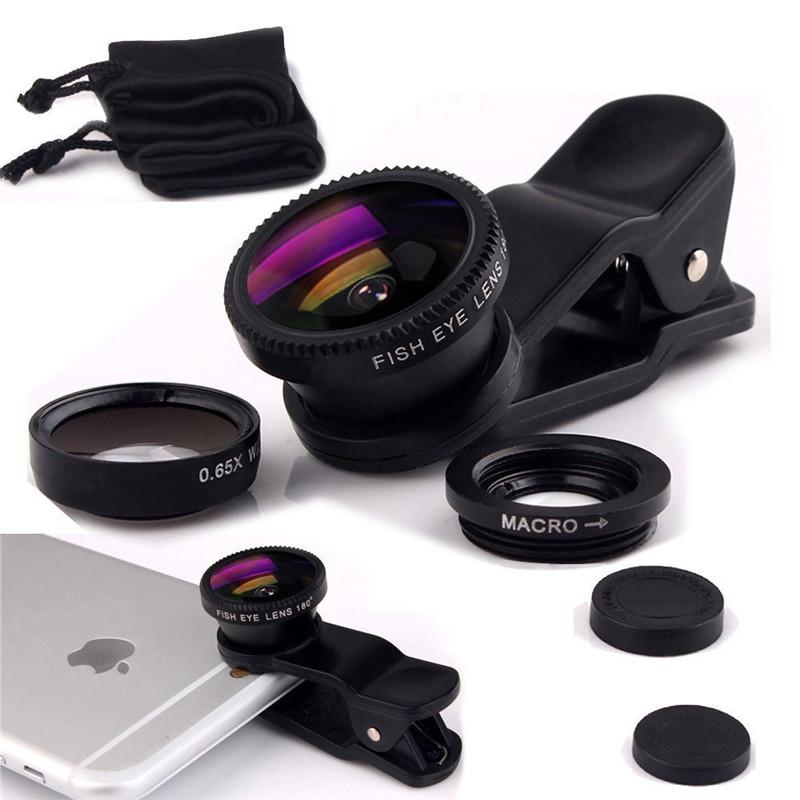Universal Clip Lens - Wide & Fish Eye Lens - Hitam By Mustika Gadget.
