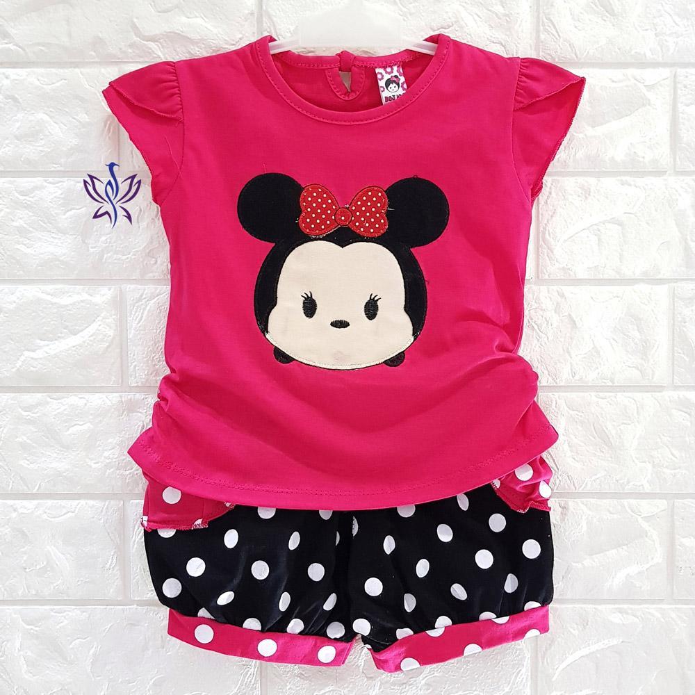 BAYIe - Setelan Baju bayi Perempuan Karet motif DORAEMON HOOKA usia 0 -12 bulan /