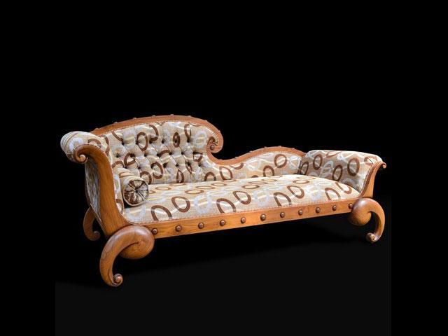 Sofa Mede Single End Jati  Furniture  Mebel Jepara  Asli Jati