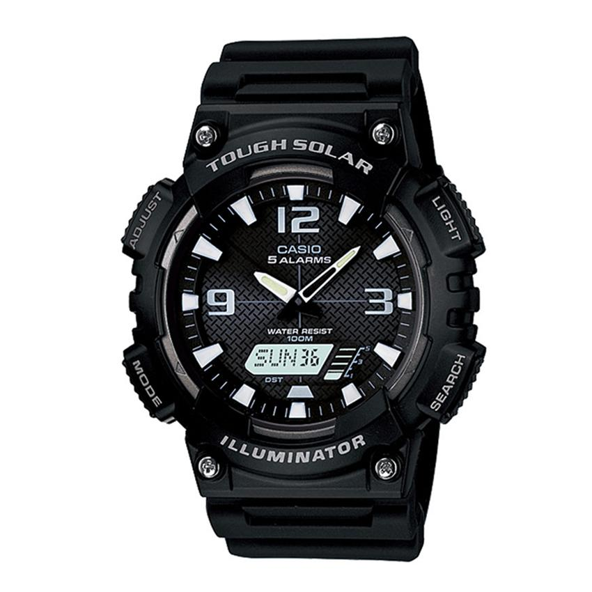 Casio Analog Digital - AQ-S810W-1A - Jam Tangan Pria - Hitam - Resin Band