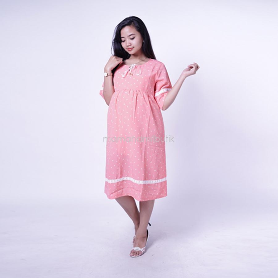 Ning Ayu Dress Hamil Cantik Renda Pita Modis Best seller - DRO 904 / Baju Menyusui Lengan Panjang / Baju Atasan Menyusui / Baju Menyusui Muslimah / Baju Muslim Wanita untuk Ibu Menyusui/ Baju Hamil Untuk Kerja / Baju Hamil Untuk Kerja Modis