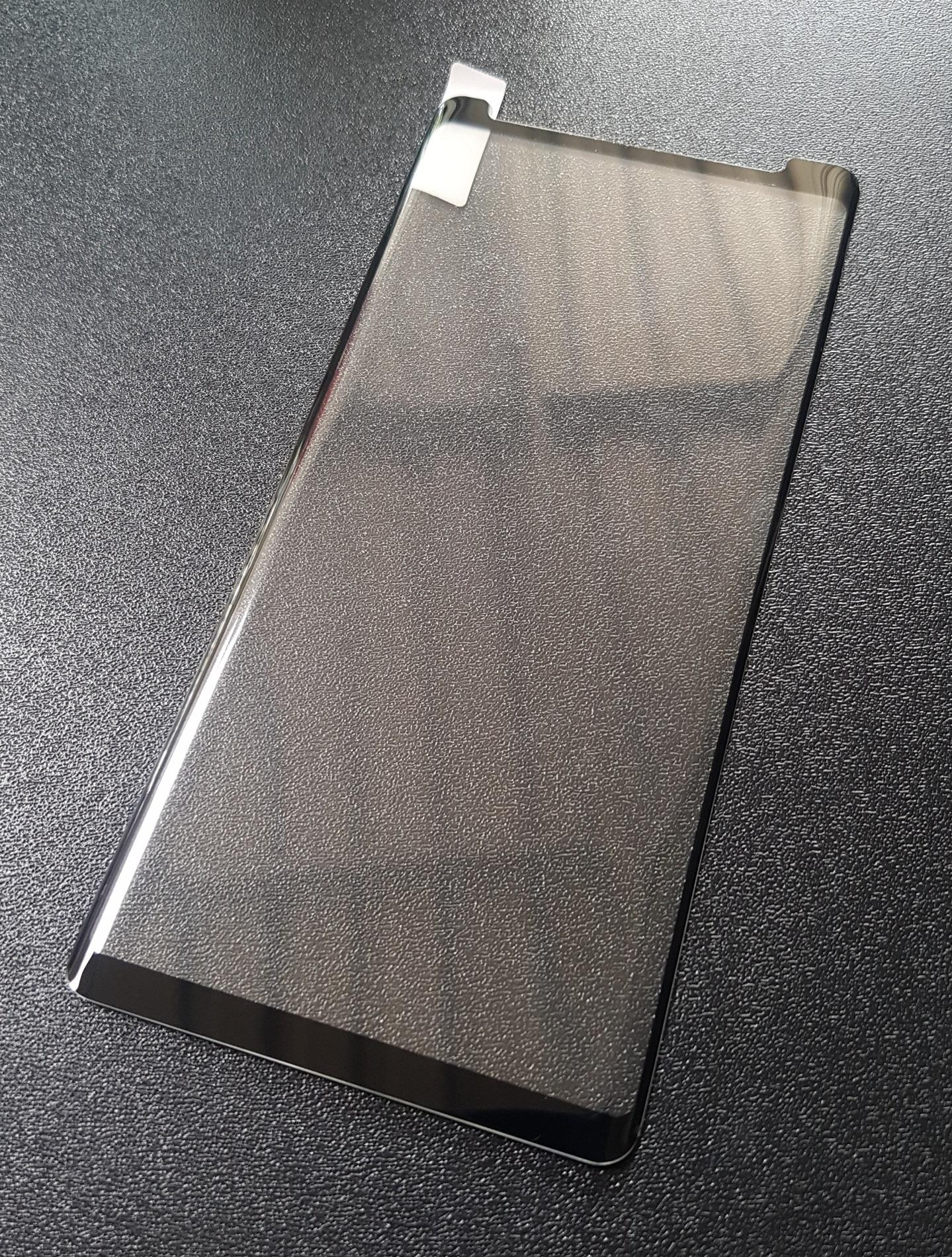 Tempered Glass Protector Curved Samsung Note 8 / N950F 6.3 Inch Anti Gores Kaca - Exclusive Full Layar Melengkung Hitam