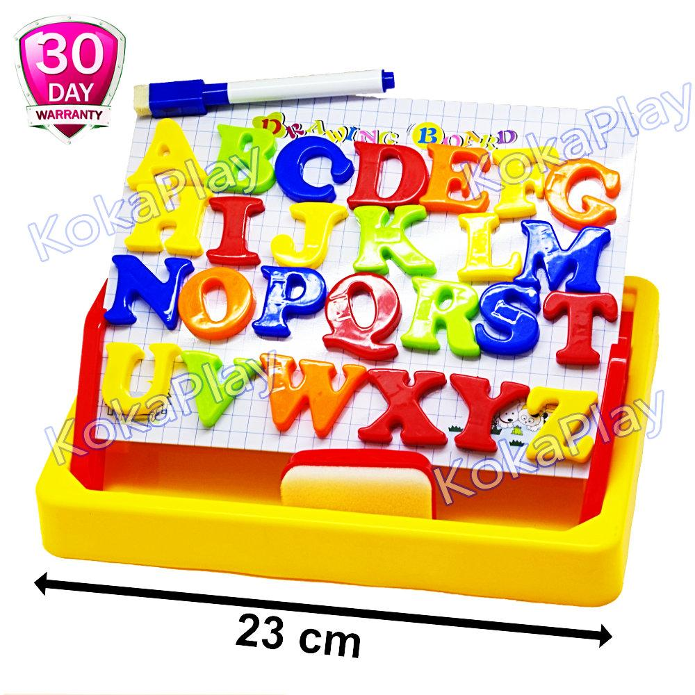 Indonesia. KokaPlay Second Classroom Papan Tulis Magnet Huruf Drawing Magnetic Board Learning Case 2 in 1 Mainan