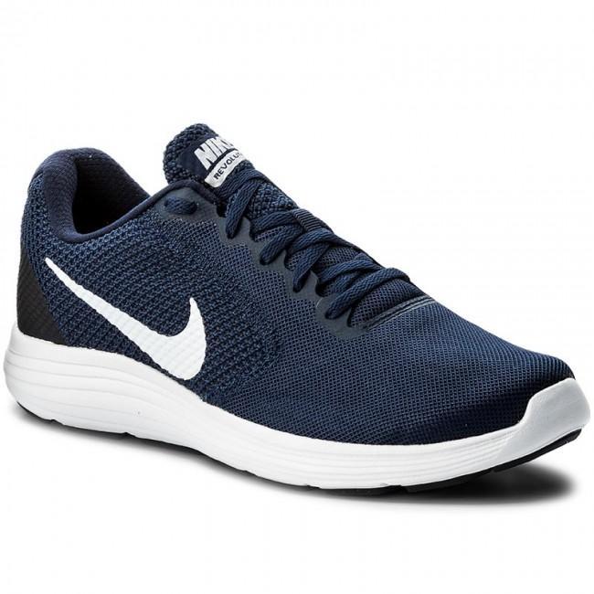 Sepatu Running Nike Revolution 3 Midnight Navy 819300-406 Original