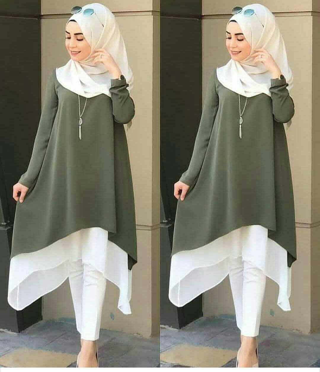 Baju Muslim Kalita Tunik Wolfice Atasan Wanita Muslim Panjang Pakaian Cewek  Original Fashion Terbaru Kekinian Blouse 6cd1a57805